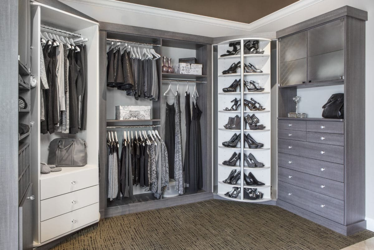 Beautiful DESIGNER CLOSET · ORGANIZE SHOES, CLOTHING, ACCESSORIES EASILY WITH 360  ORGANIZER® BY LAZY LEE