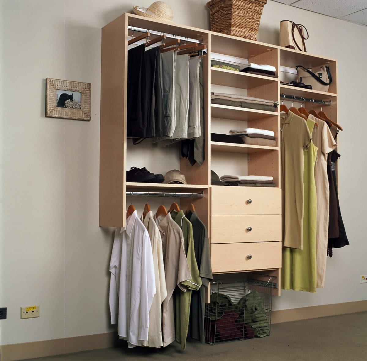A SIMPLE REACH IN CLOSET SYSTEM CAN DOUBLE YOUR STORAGE SPACE