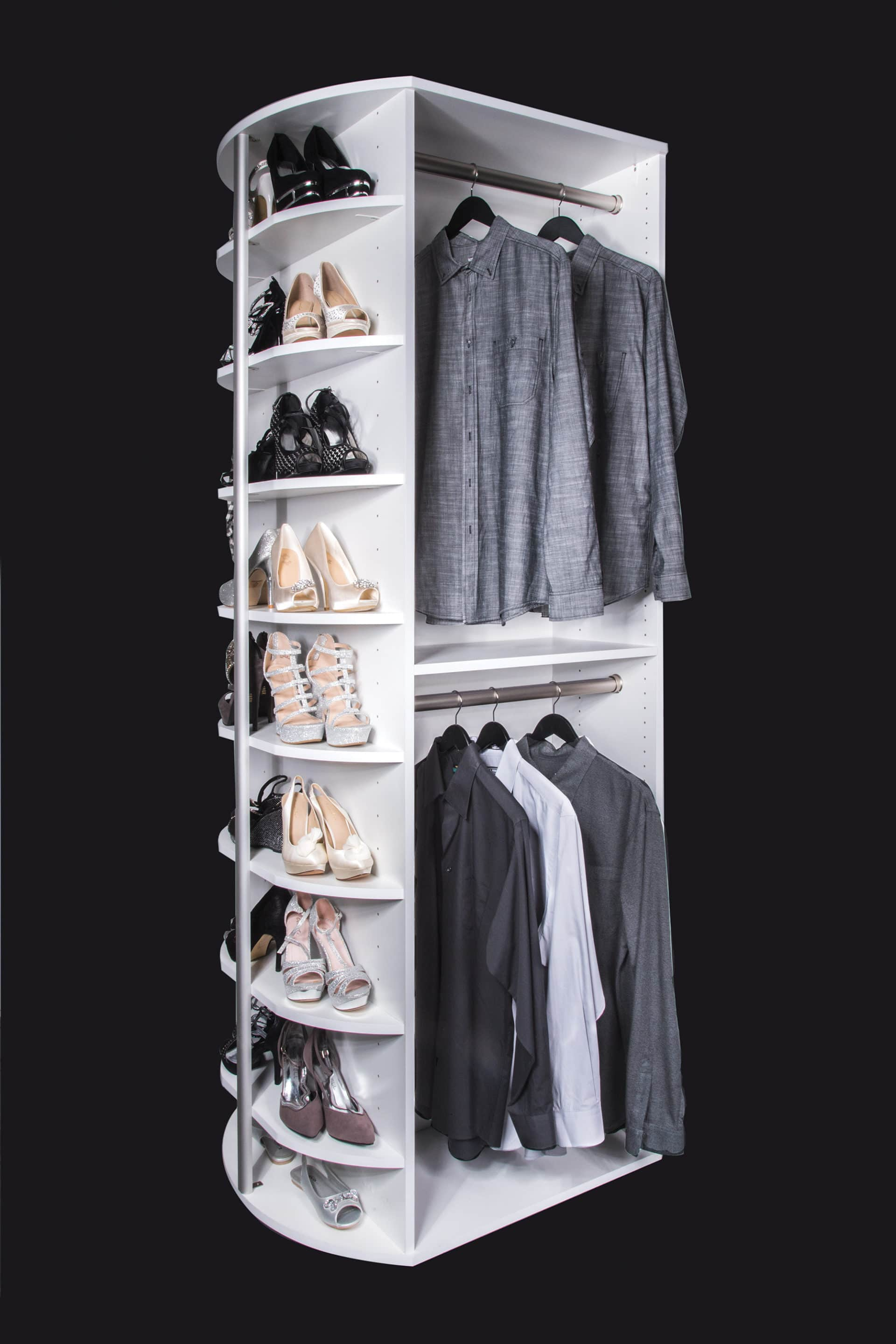 double hang spinning closet organizer