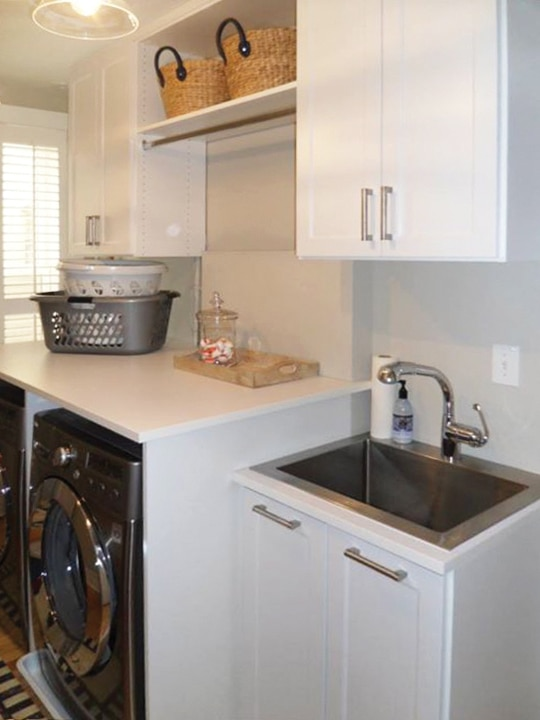 OVERHEAD LAUNDRY CABINETS WITH SINK