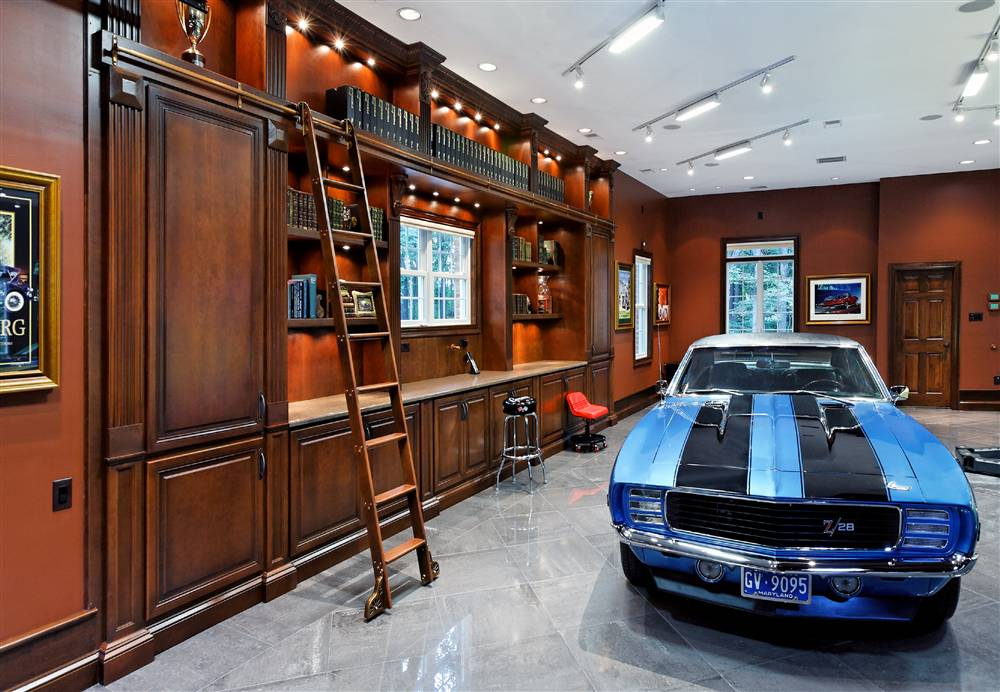 CUSTOM GARAGE CABINETS AND LIBRARY COMBO