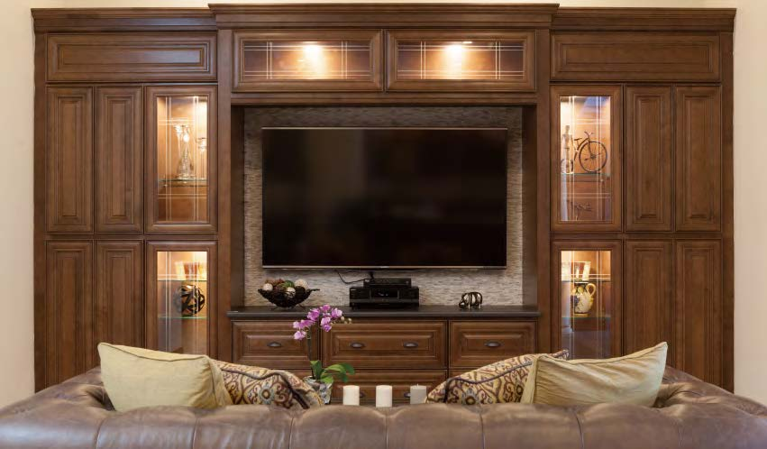 BUILT IN ENTERTAINMENT CENTER CABINETS