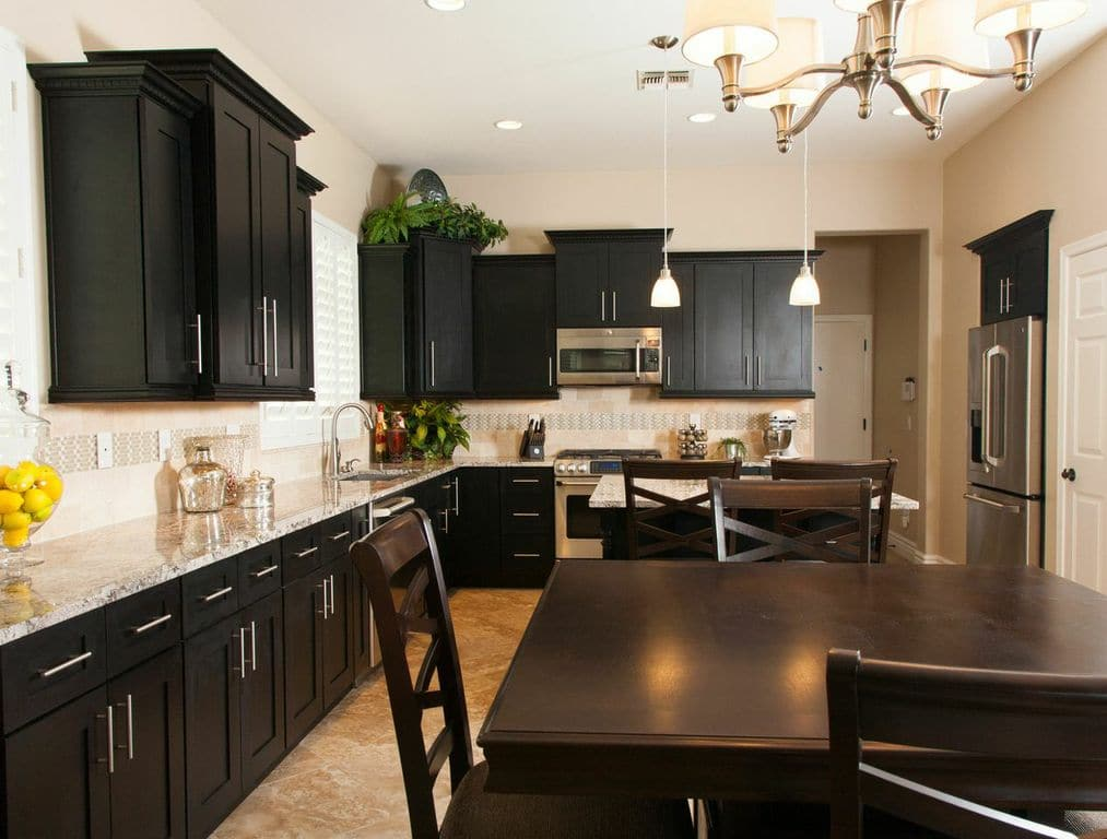Interior Black Shaker Kitchen Cabinets kitchen cabinets paradise valley az austin morgan black shaker cabinets
