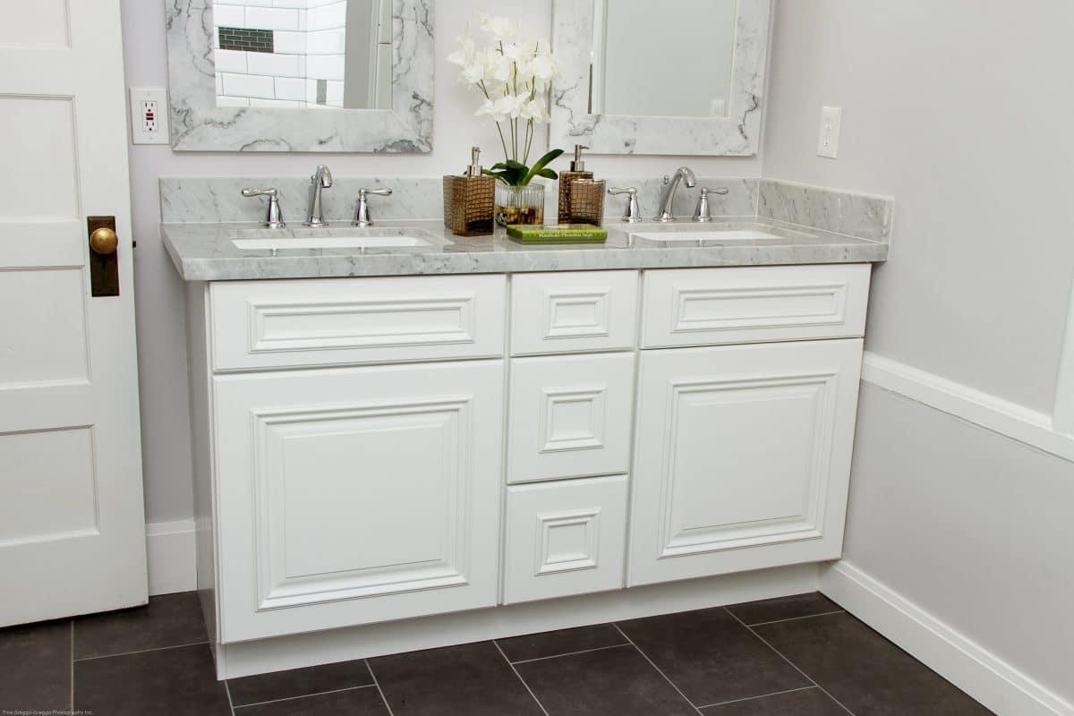 Hmedata npi search registry - Shaker Cabinets Bathroom White Shaker Bathroom Cabinets Grey Marble Countertop