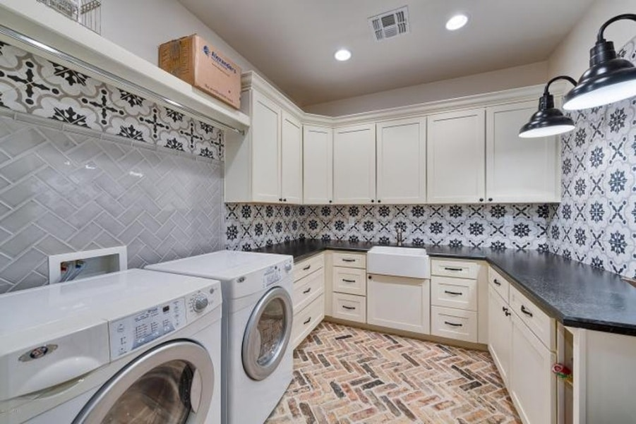 Superior Installing Cabinets In Laundry Room Part - 13: SHAKER LAUNDRY ROOM CABINETS WITH HANGING BAR