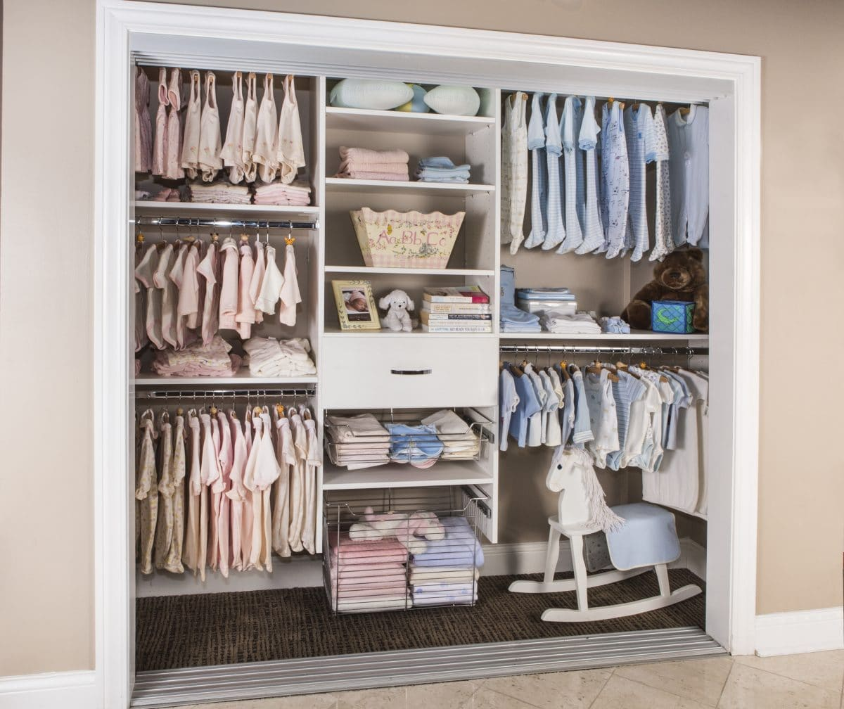 WHITE CLOSET SYSTEM THAT WILL GROW WITH YOUR CHILD