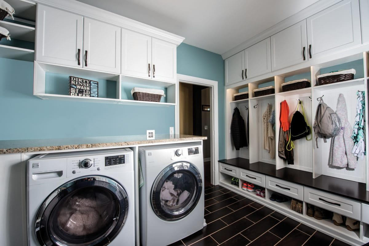 COMBO LAUNDRY ROOM MUDROOM CUSTOM DESIGNED FOR YOUR FAMILY