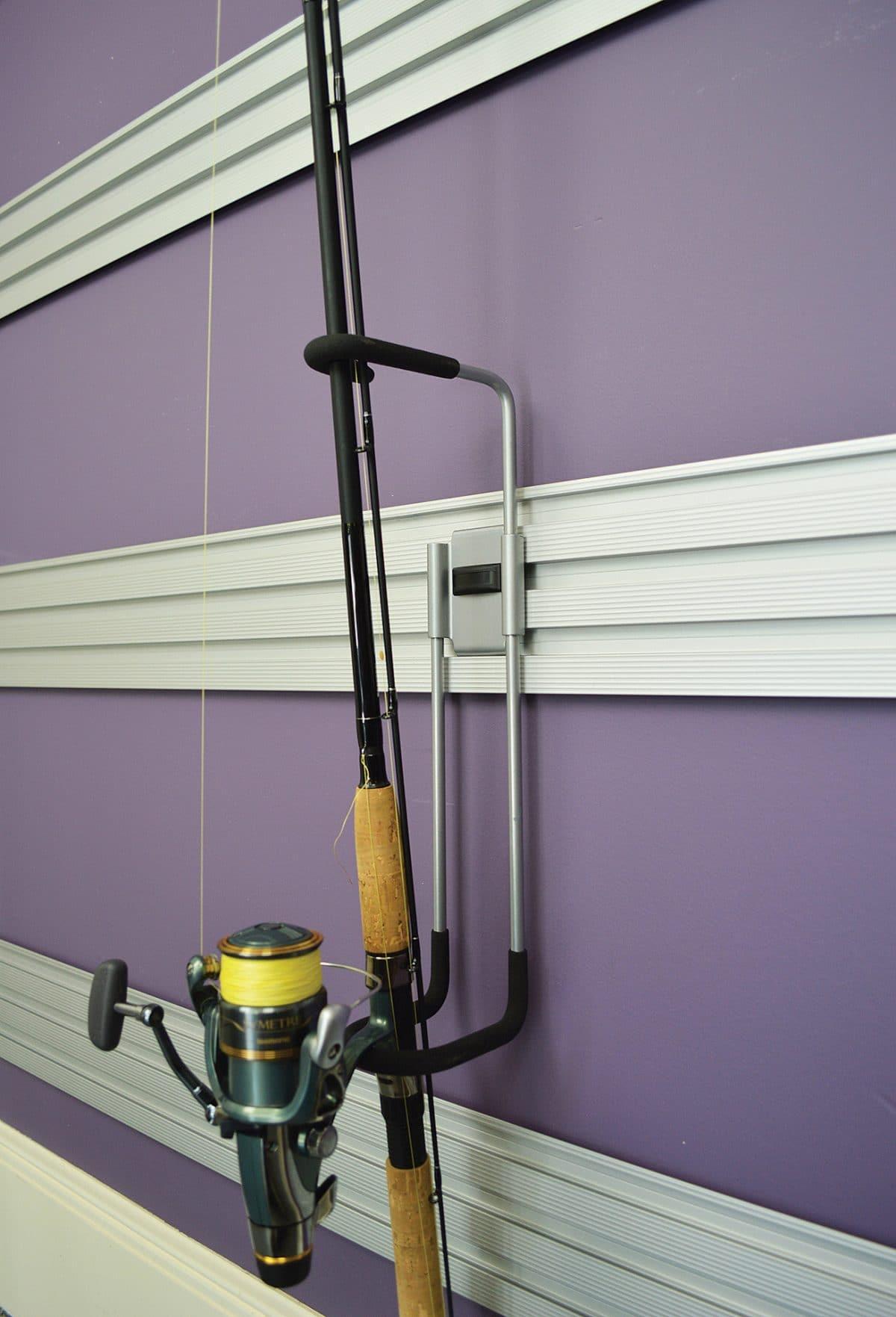 Garage accessories phoenix az garage cabinet installers for Garage door fishing rod holder