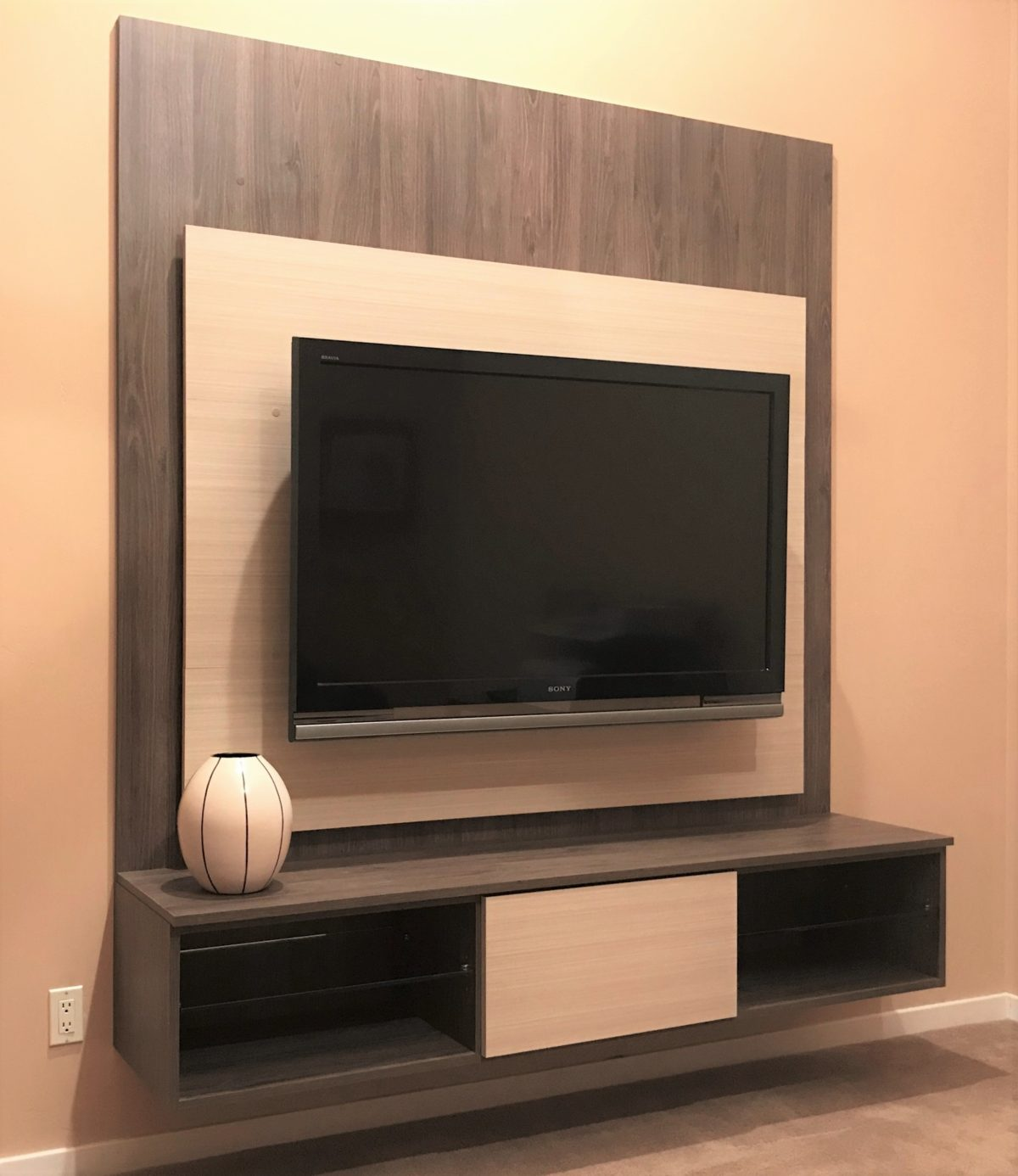 Modern Floating Entertainment Center Well Designed Wall Unit Organization System