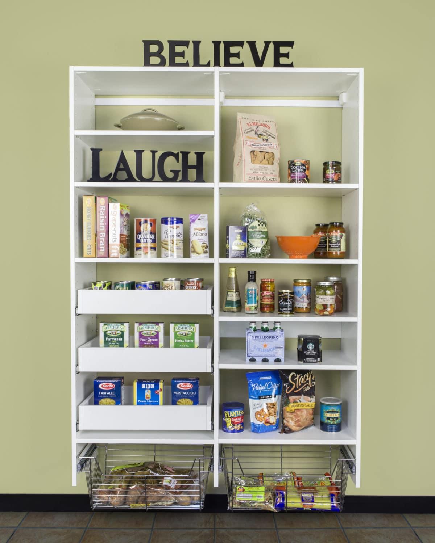 White Pantry Shelving System: Pantry Cabinets Phoenix AZ