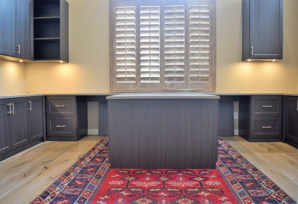 HOME OFFICE CABINETS WITH LED LIGHTING