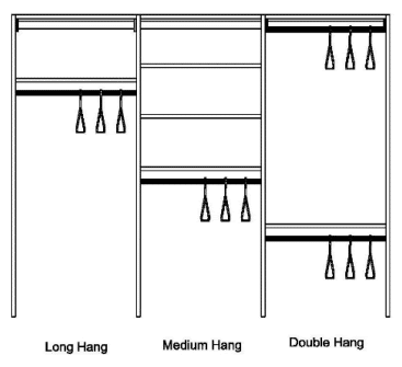 hanging shelving system schematic